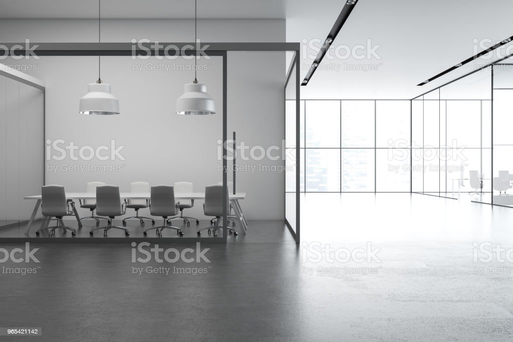 Loft office interior, gray zbiór zdjęć royalty-free