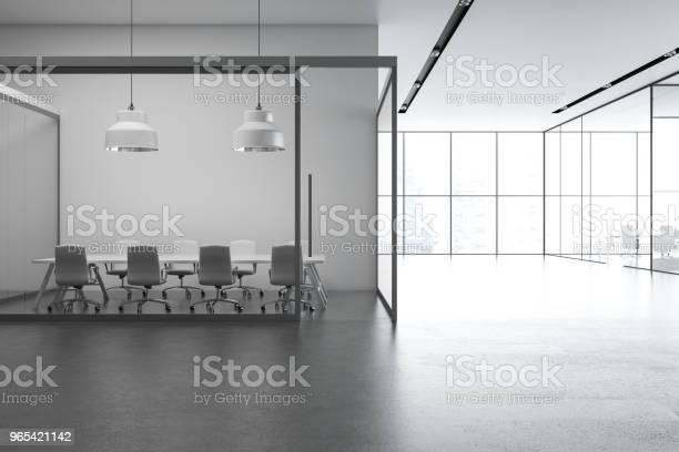 Foto de Cinza Interior Do Sotão Escritório e mais fotos de stock de Arquitetura