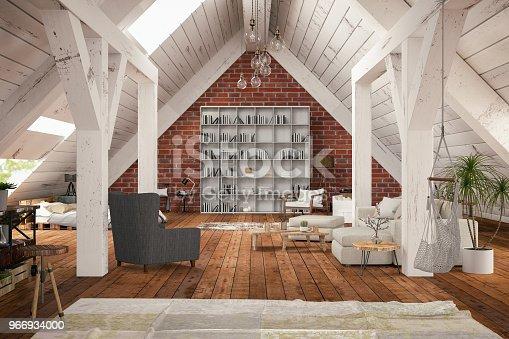 istock Loft Room 966934000