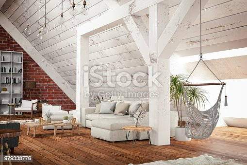 istock Loft Room 979338776