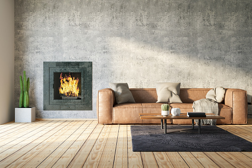 Loft Room with Fireplace