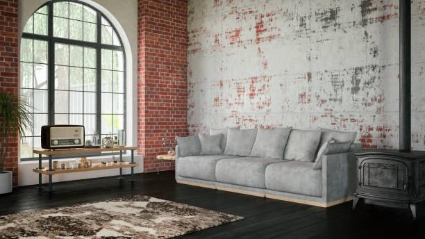 loft-zimmer mit sofa - 5 sterne hotel türkei stock-fotos und bilder