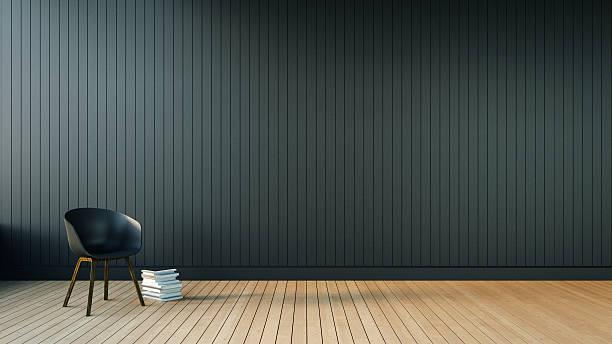 Loft & Simple Living room stock photo