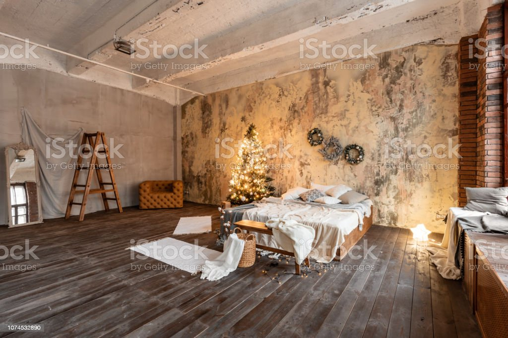 Photo libre de droit de Loft Appartements De Style Lit Dans ...