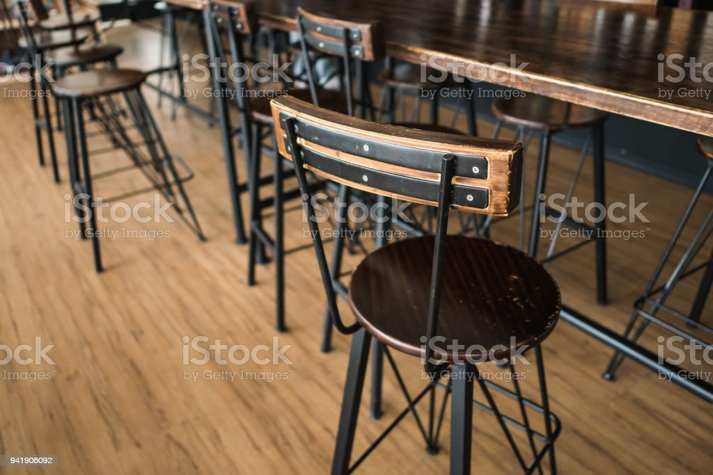Loft Style Chair at Coffee Shop stock photo