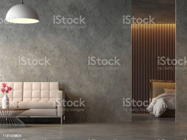 Loft style liveng room and bedroom with polished cocrete 3d render picture id1131429824?b=1&k=6&m=1131429824&s=612x612&h=fvqppogweejzffrngy0cpdakw5fkbns z9o7n4m4cxy=
