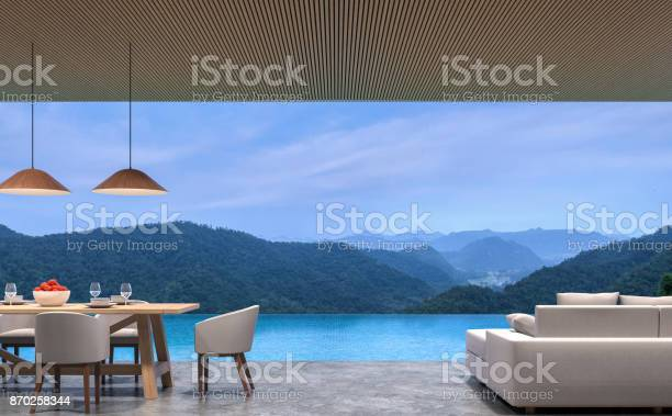 Loft style pool villa living and dining room with mountain view 3d picture id870258344?b=1&k=6&m=870258344&s=612x612&h=fyu8m5z4iprlxmwaaiwob6rl1k8wo3ulc1w6i zja1g=