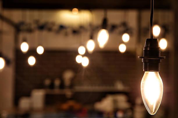 loft style tungsten light stock photo stock photo