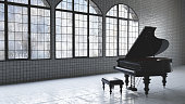 Loft warehouse music concept