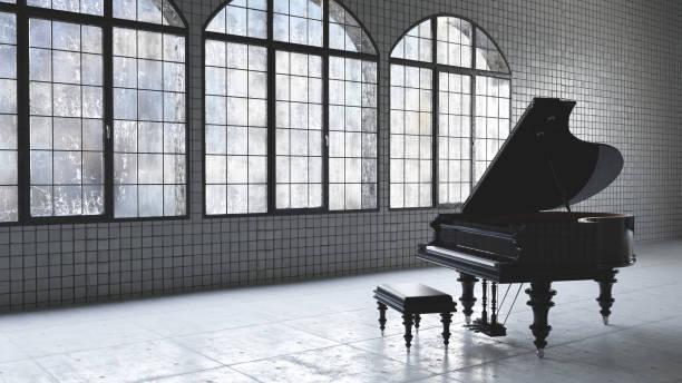 concept de musique loft entrepôt - piano photos et images de collection