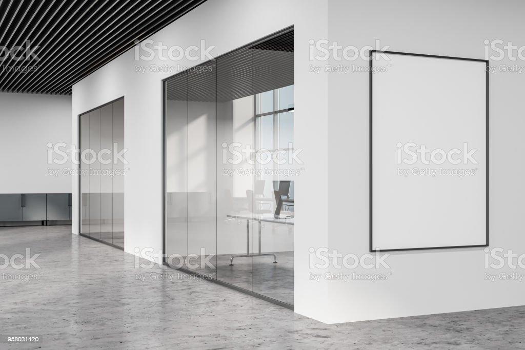 Hall de bureau loft blanc espace ouvert poster u photos et plus d