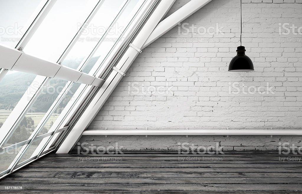 loft window stock photo