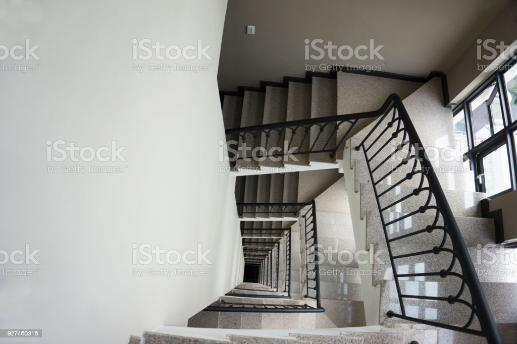 A lofty staircase stock photo