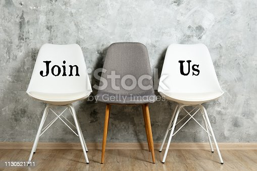 istock Lofty style chair with nobody sitting on it. Available seats. 1130521711