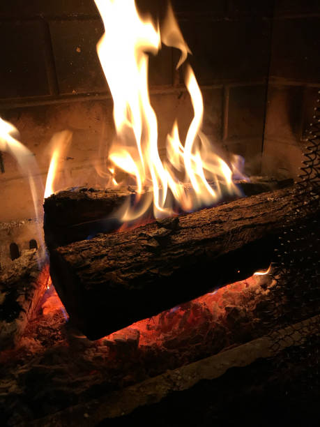 Log ablaze Fire ablaze stock pictures, royalty-free photos & images