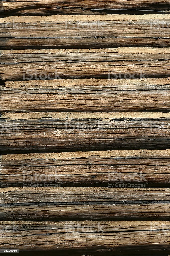 Log cabin background royalty-free stock photo