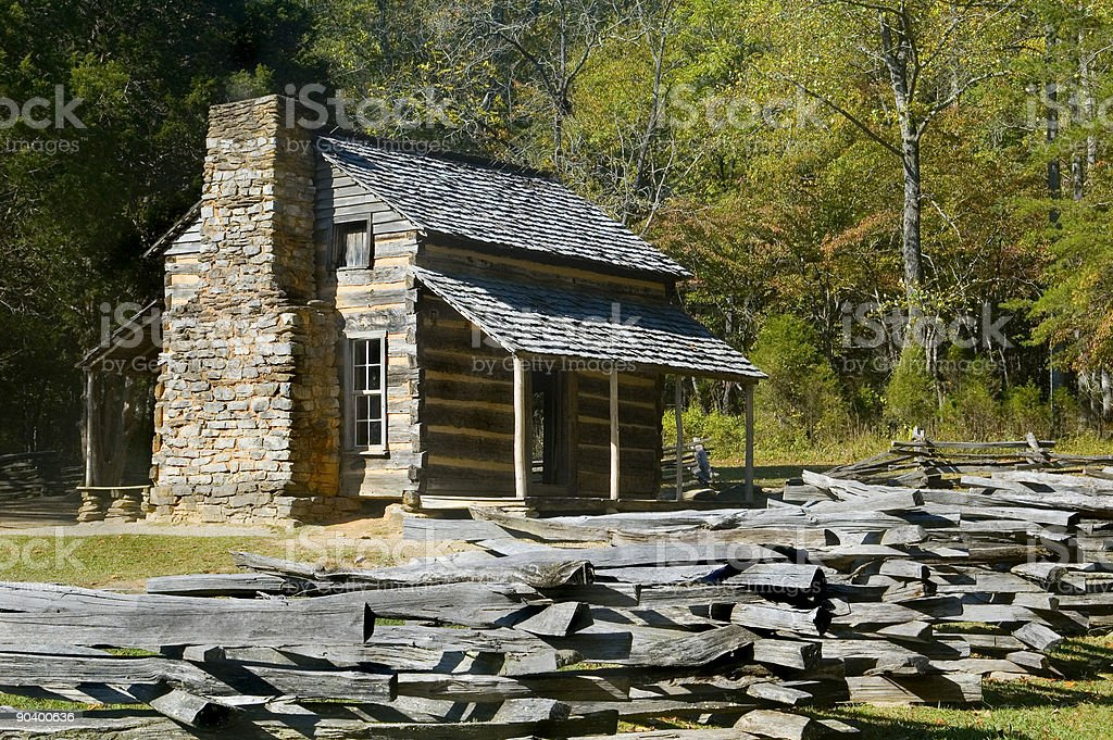 Log Cabin Cades Cove Great Smoky Mountains National Park Stock Photo