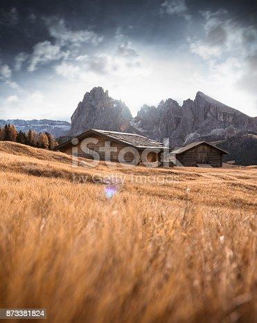log cabin in seiser alm