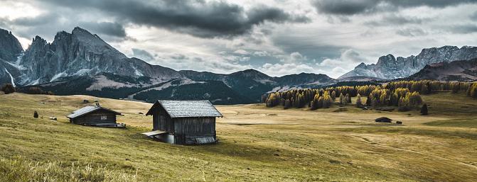 istock log cabin in seiser alm 884220992