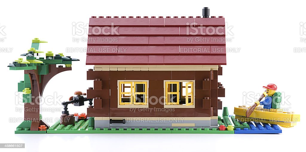 LEGO CREATOR Log Cabin royalty-free stock photo
