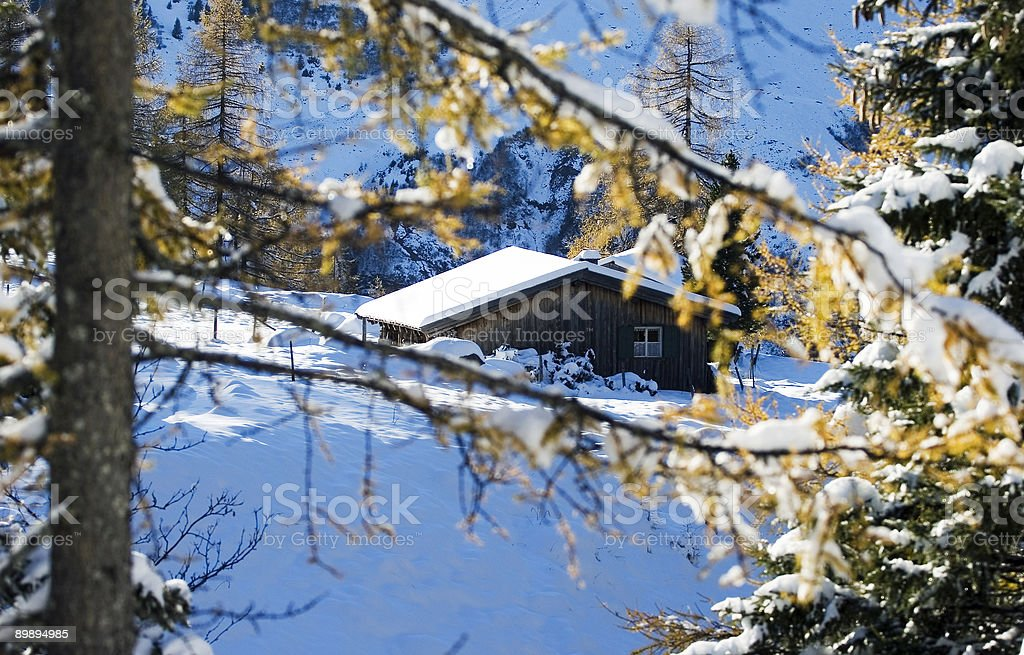Log Blockhütte Lizenzfreies stock-foto