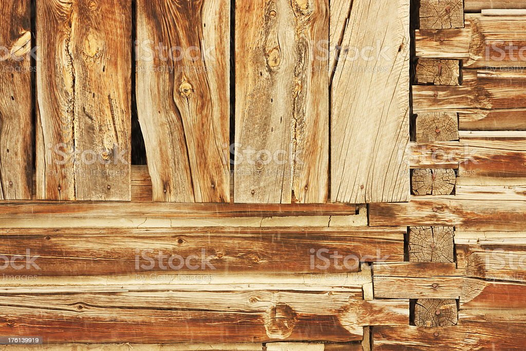 Log Cabin Plank Architecture Construction royalty-free stock photo