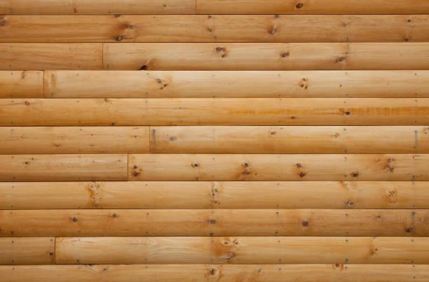 Log Cabin Siding stock photo