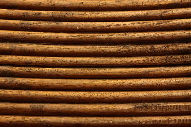 Log Cabin Siding - Wooden stock photo