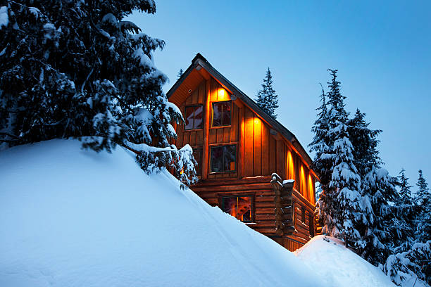 Log Cabin Winter – Foto