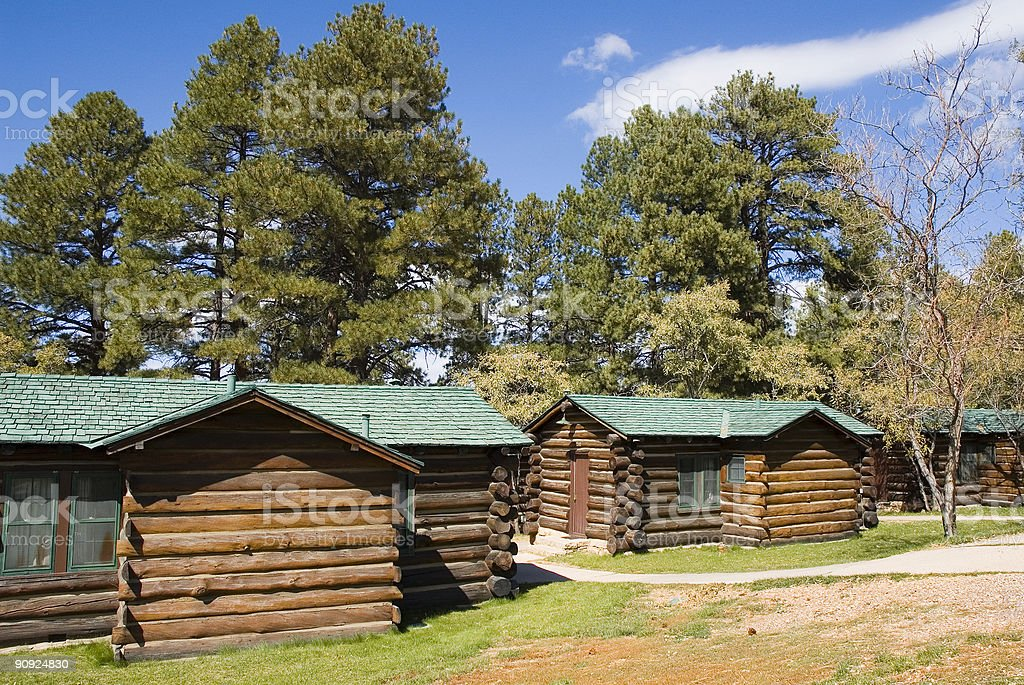 Log Cabins royalty-free stock photo