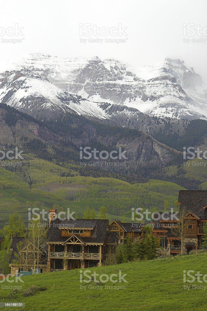 Log homes royalty-free stock photo