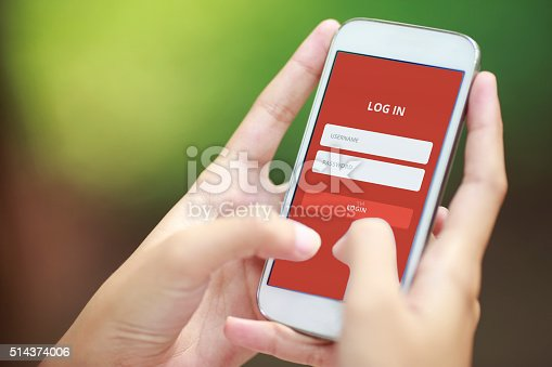istock Log in on Smartphone 514374006