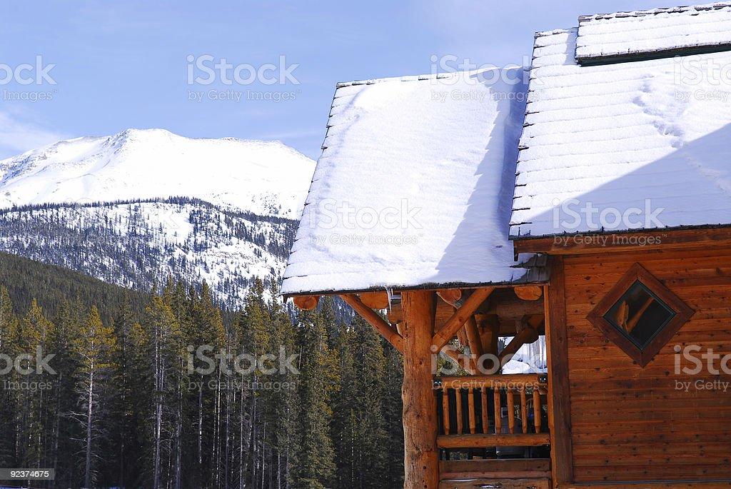Log mountain cabin royalty-free stock photo
