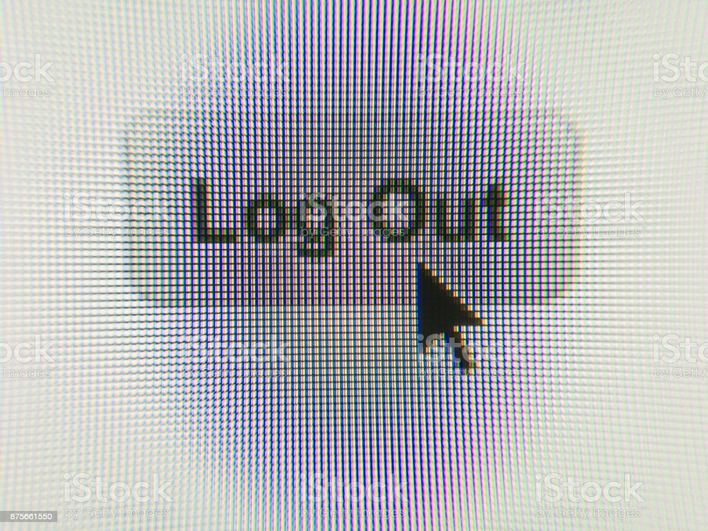 'Log Out' process on computer screen stock photo