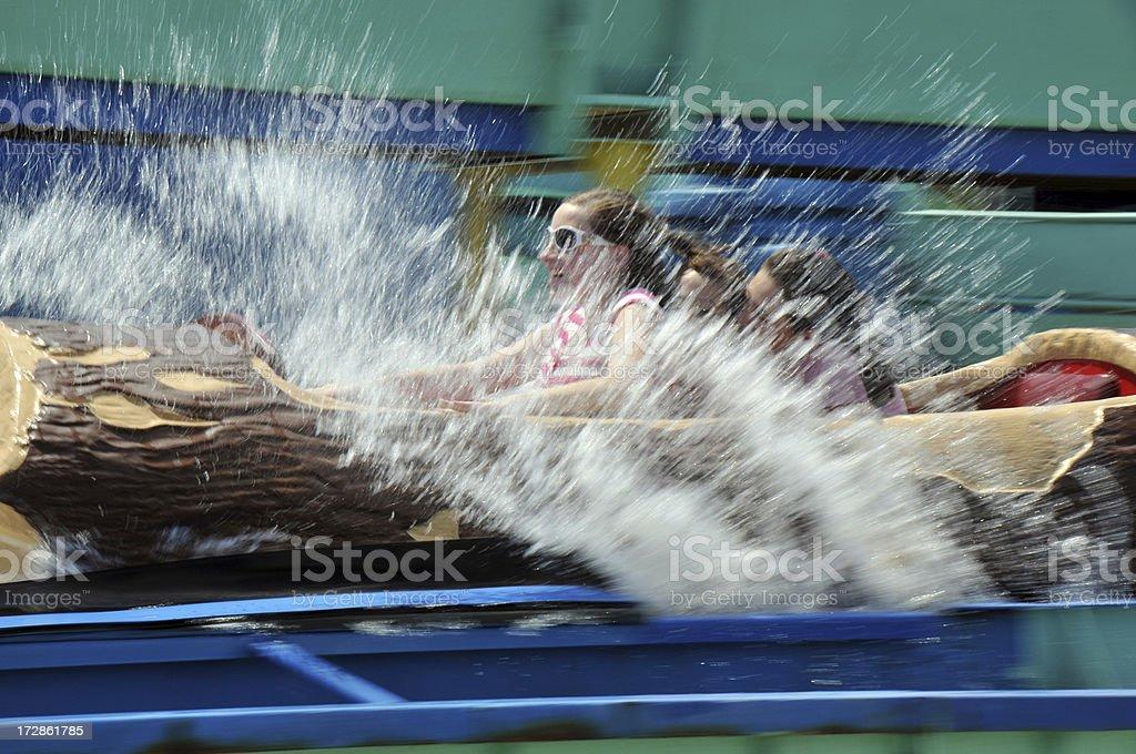 Log Ride royalty-free stock photo