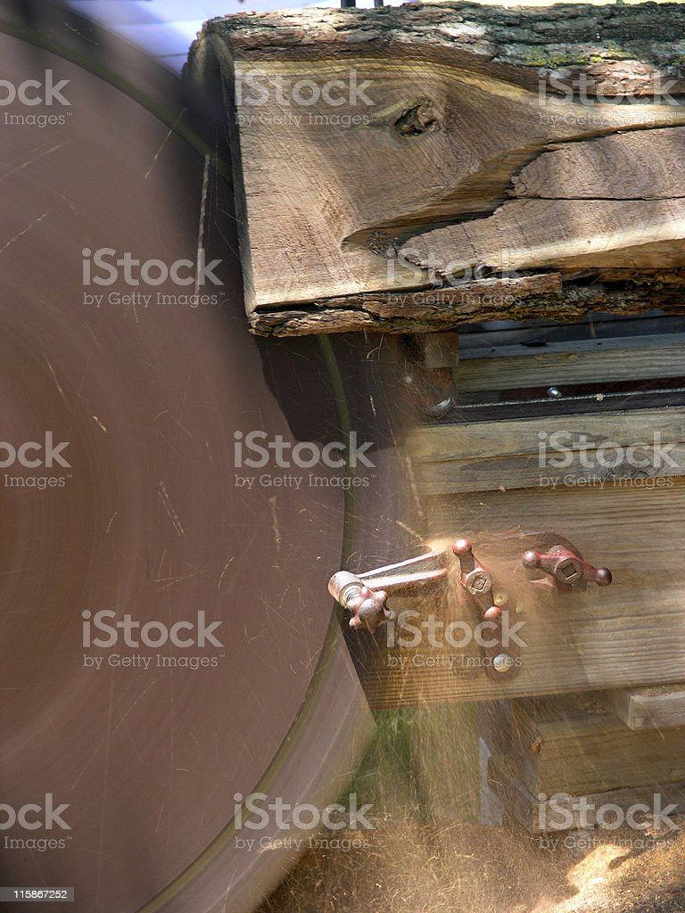 Log Sawing royalty-free stock photo