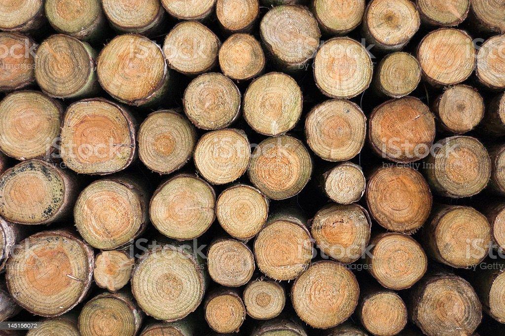 Log Stack royalty-free stock photo