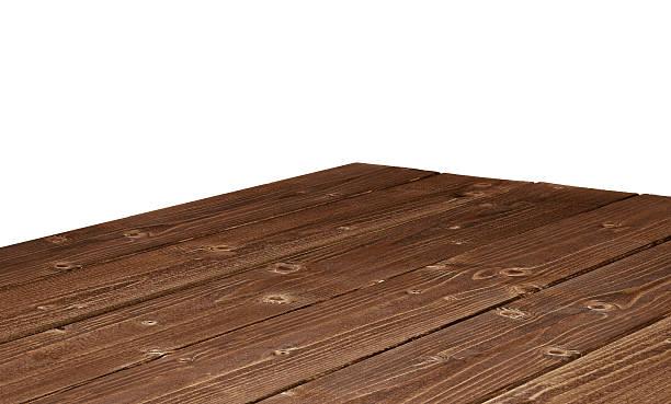log table corner on white background - gekanteld stockfoto's en -beelden