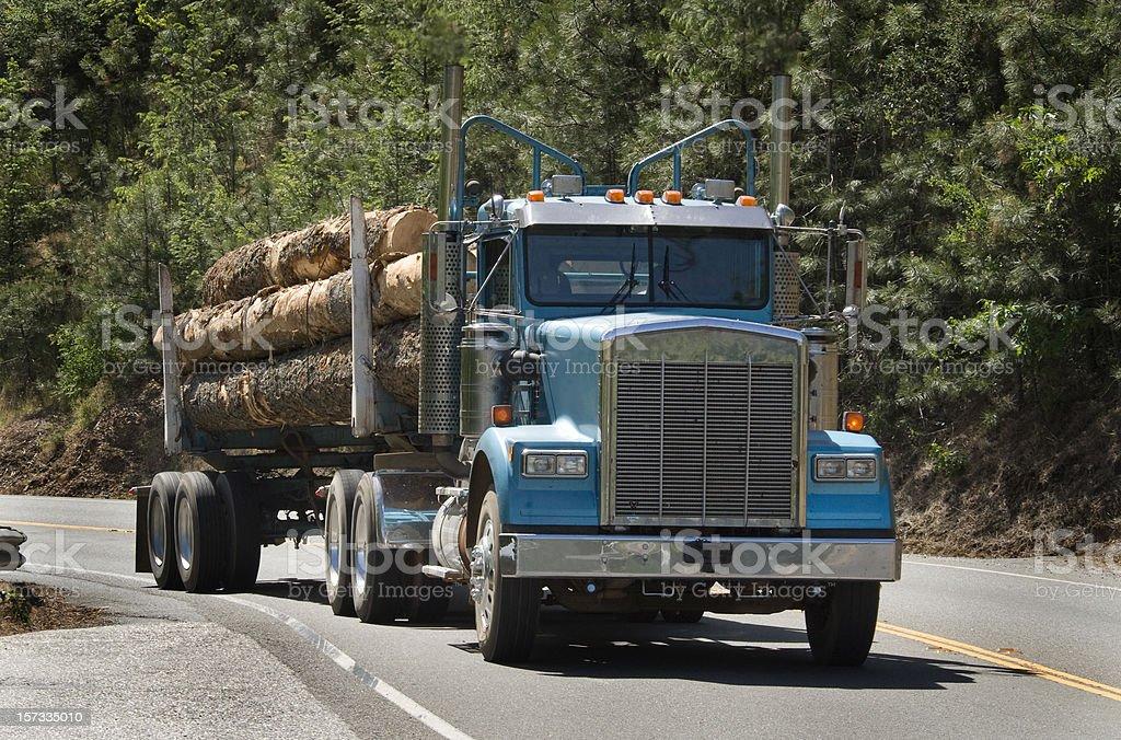 Log Truck royalty-free stock photo