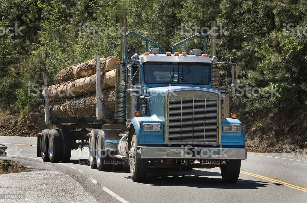 Log Truck stock photo