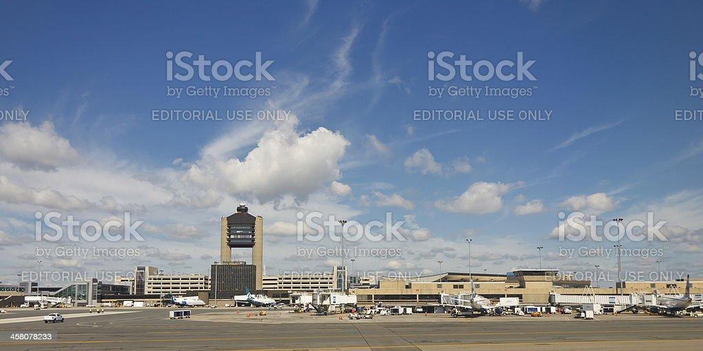 Logan International Airport, Boston stock photo