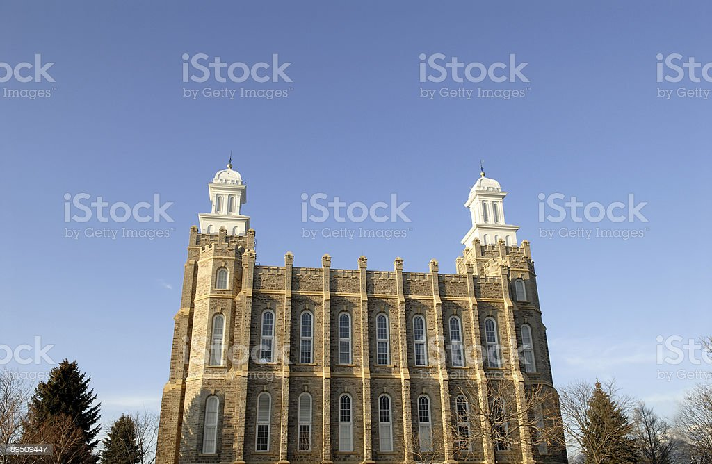 Logan Utah Temple from the Side royalty-free stock photo