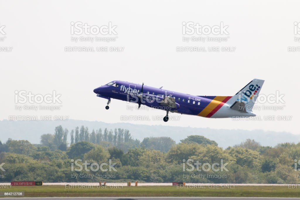 Loganair Saab 340B royalty-free stock photo