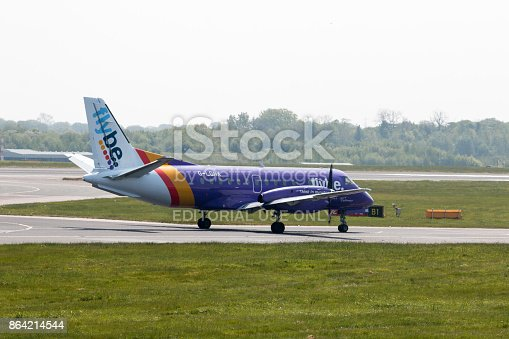 Loganair Saab 340b Stock Photo & More Pictures of Aerospace Industry