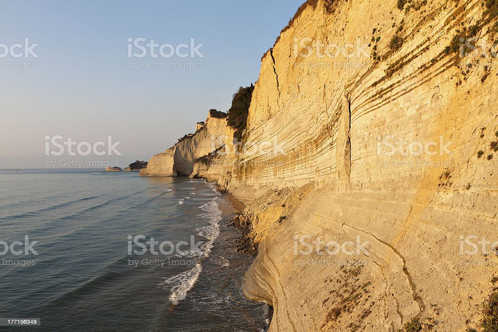 Logas beach at Corfu island, Greece stock photo