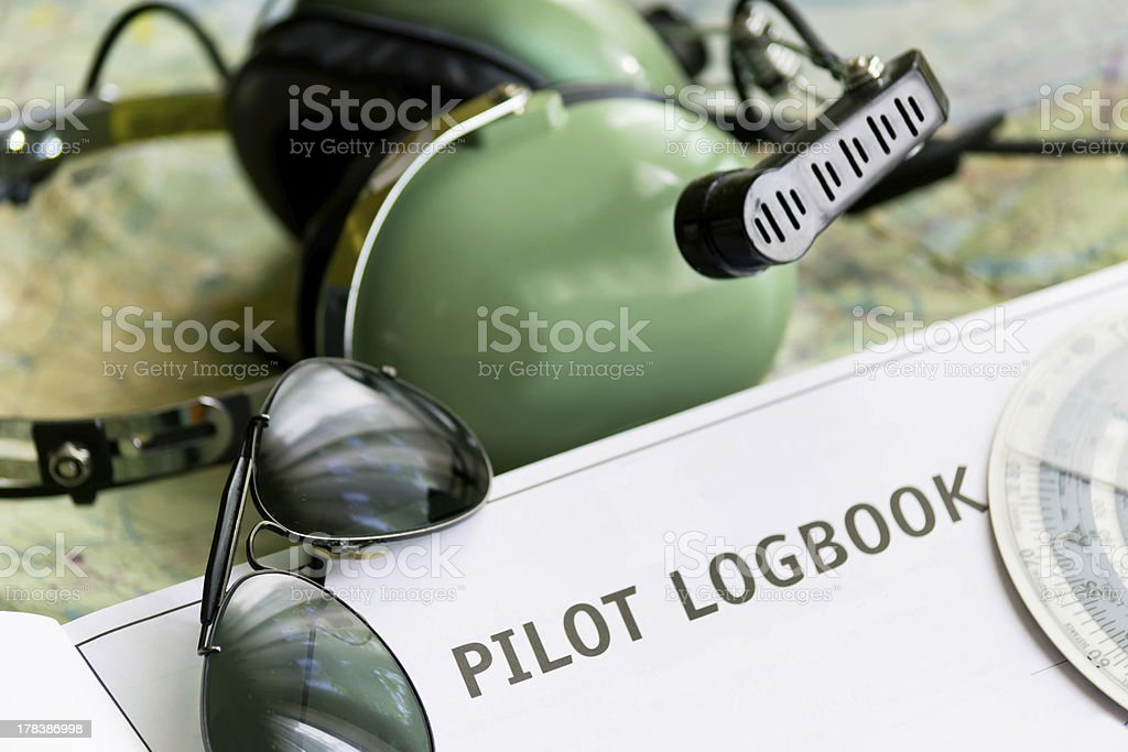 logbook and other tools stock photo