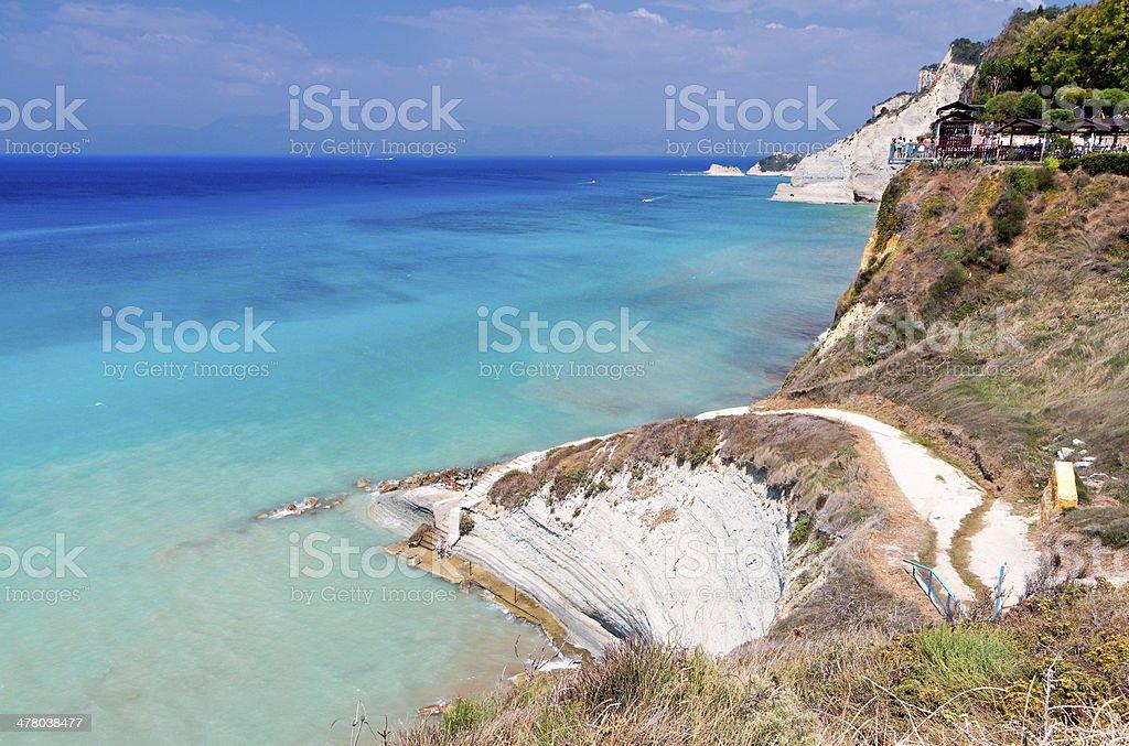 Logga coast at Corfu island, Greece royalty-free stock photo