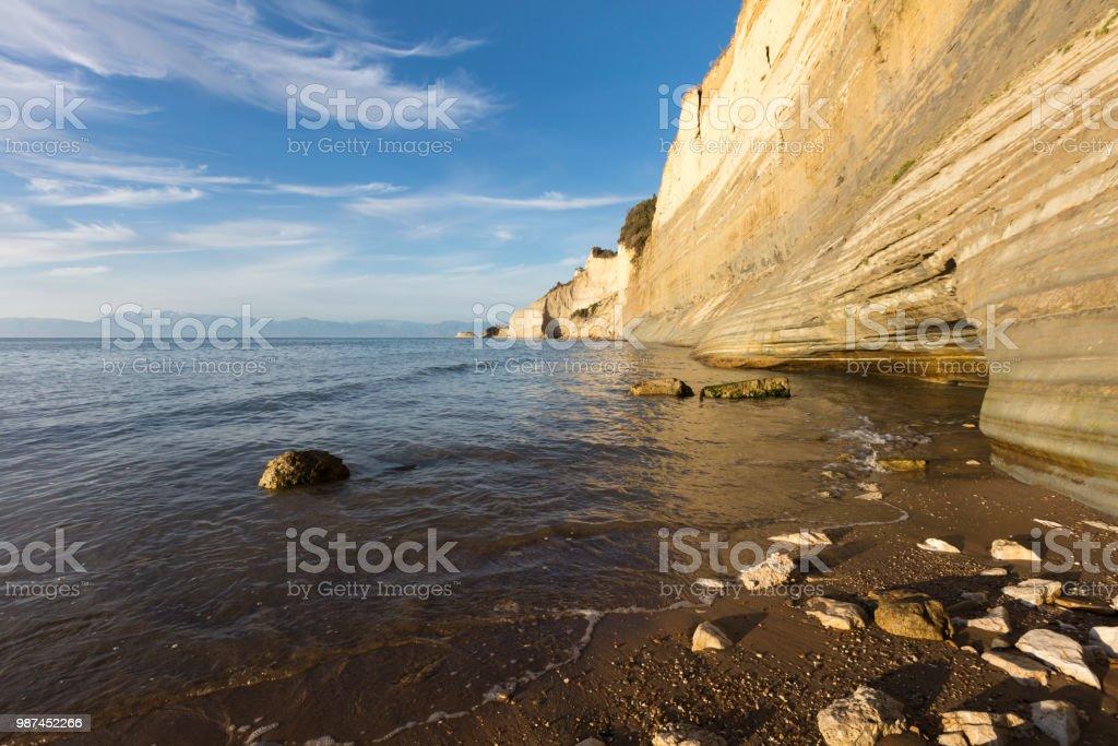 Loggas Beach in Corfu Island stock photo