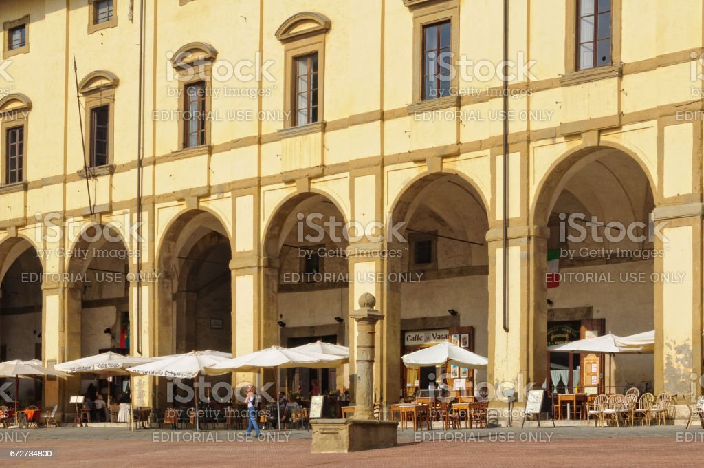 Loggia del Vasari - Arezzo - foto stock