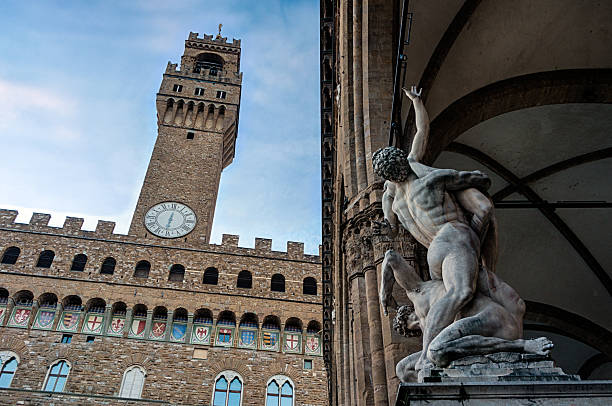 Loggia Lanzi and tower of the Palazzo Vecchio – Foto